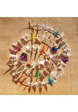 Guirlande tissu de spinnaker et perles multicolores n°6