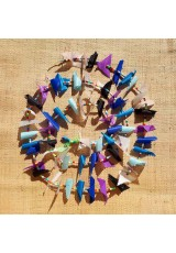 Guirlande tissu de spinnaker et perles multicolores n°15