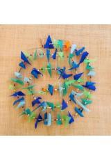 Guirlande tissu de spinnaker et perles multicolores n°16