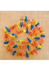 Guirlande tissu de spinnaker et perles multicolores n°18