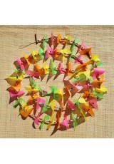 Guirlande tissu de spinnaker et perles multicolores n°19