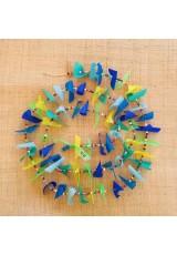 Guirlande tissu de spinnaker et perles multicolores n°20