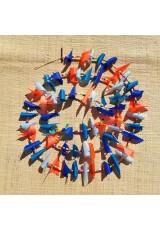 Guirlande tissu de spinnaker et perles multicolores n°21