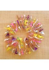 Guirlande tissu de spinnaker et perles multicolores n°22