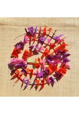 Guirlande tissu de spinnaker et perles multicolores n°23