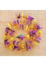 Guirlande tissu de spinnaker et perles multicolores n°24