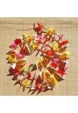 Guirlande tissu de spinnaker et perles multicolores n°25