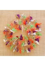 Guirlande tissu de spinnaker et perles multicolores n°26
