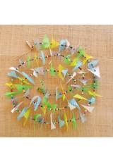 Guirlande tissu de spinnaker et perles multicolores n°28 (lundi de Pâques)