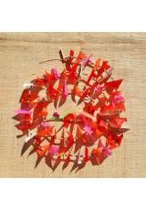Guirlande tissu de spinnaker et perles multicolores n°29