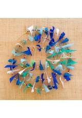Guirlande tissu de spinnaker et perles multicolores n°30