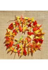 Guirlande tissu de spinnaker et perles multicolores n°31
