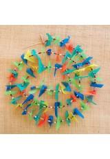 Guirlande tissu de spinnaker et perles multicolores n°32