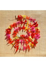 Guirlande tissu de spinnaker et perles multicolores n°33
