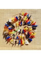 Guirlande tissu de spinnaker et perles multicolores n°35