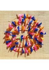 Guirlande tissu de spinnaker et perles multicolores n°37