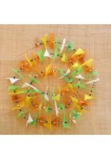 Guirlande tissu de spinnaker et perles multicolores n°38