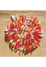 Guirlande tissu de spinnaker et perles multicolores n°39