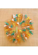 Guirlande tissu de spinnaker et perles multicolores n°40