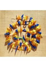 Guirlande tissu de spinnaker et perles multicolores n°43
