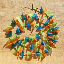 Guirlande tissu de spinnaker et perles multicolores n°51
