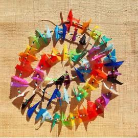 Guirlande tissu de spinnaker et perles multicolores n°53