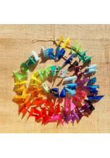 Guirlande tissu de spinnaker et perles multicolores n°55 (10 mai)