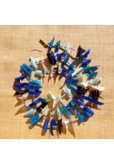 Guirlande tissu de spinnaker et perles multicolores n°7