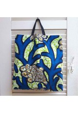 Tote bag wax bleu anis