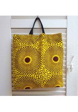 Tote bag wax jaune et brun