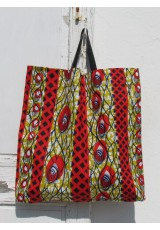 Tote bag wax rouge moutarde indigo