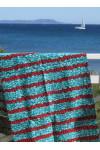 Paréo Wax turquoise et rouge