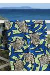 Paréo Wax bleu anis