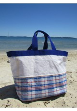 "Grand cabas voile et ""Moving bag"""
