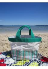 "Cabas voile et ""Moving bag"" vert"