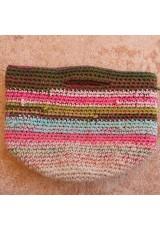 Cabas multicolore crochet