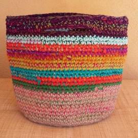 Cabas crochet multicolore Zpagetti et jute