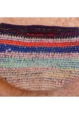 Cabas crochet multicolore Zpagetti et jute, violet, orange bleu et ciel