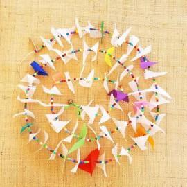 Guirlande tissu spinnaker et perles multicolores n°2