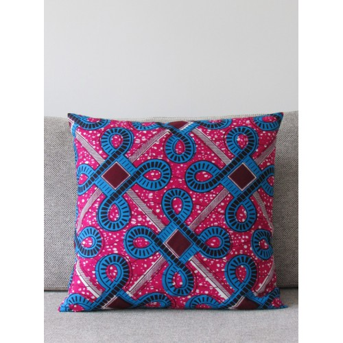 Coussins Wax turquoise rose