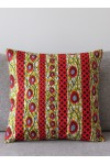 Coussins Wax rouge moutarde indigo