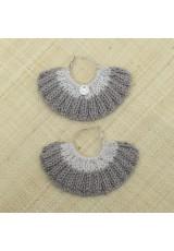 Boucles d'oreilles éventail chanvre et lin